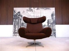 1960s Scandinavian Wingback Lounge Chair