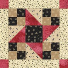 Framed Friendship Star Quilt Block Pattern