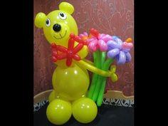 Медведь из воздушных шаров - YouTube