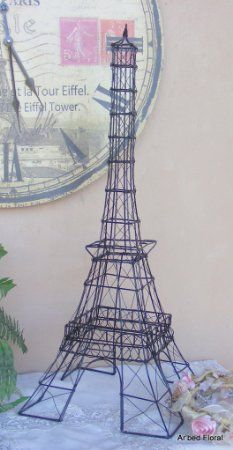 Shabby Cottage Chic Eiffel Tower Photo Card Holder