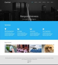 Free bootstrap business template corporate website templates business responsive bootstrap template wajeb Gallery