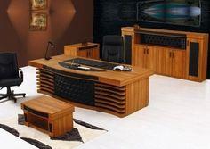 Elisa Vip Ahşap Masa Takımı - Makam masası - Vip makam masası - Ofis masası - Büro masa takımı mobilyası ve modelleri.