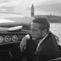Paul Newman, Venice, 1963. So elegant and not a wasted pixel in the frame.