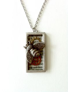 Steampunk necklace Queen bee mixed metal bee necklace Handmade Gift Free US Shipping on Etsy, $29.00