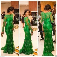 Our products include Wedding dresses and special occasion dress,wedding party dresses. African Lace Styles, African Lace Dresses, African Dresses For Women, African Attire, African Fashion Dresses, Mermaid Prom Dresses Lace, Prom Dresses Long With Sleeves, Lace Dress With Sleeves, Green Evening Dress