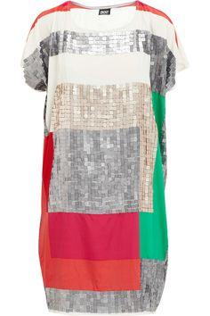 color block dress - DKNY