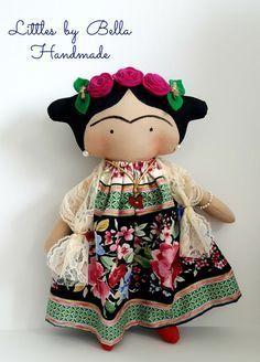Frida Kahlo doll Tilda toy childrenf Frida Kahlo by littlesbyBella