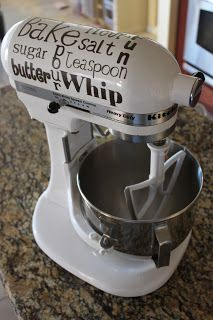 free {Kitchen Aid Mixer} Subway Art printables so you can decorate your mixer  ~  so fun