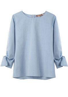 UNITED BAMBOO//TIED SLEEVE TOP