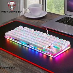 Buy New Motospeed Gaming Mechanical Keyboard with RGB Backlight Keyboards Gamer Blue Switch for PC Laptop Computer PK