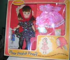 1968 Horsman Poor Pitiful Pearl Doll w/ 2nd Outfit in Original Box