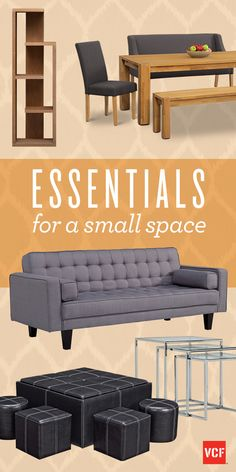 DO the most with your small space! Don't let your lack of space get in the way of your personal style!