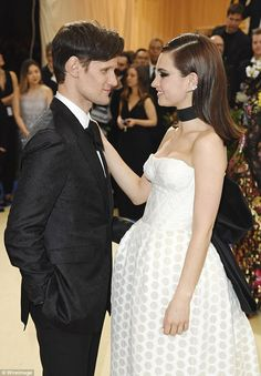 The look of love:Lily James and Matt Smith still looked like love's young dream as they joined the starry crowd at the Met Gala 2017 on Monday evening