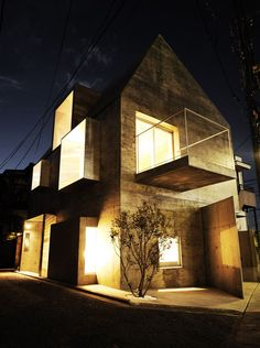 An example of a house made completely of concrete