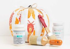 Craft Painting - DIY Pumpkin Decor with Waverly Inspirations Fabrics