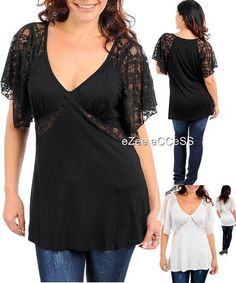 SeXY WoMeNS PLuS SiZe RoCKaBiLLY FLoRaL NeT LaCE SLeeVEe TuNiC BLoUSe ToP