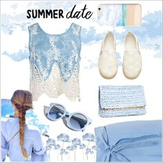 Summer Date 101 by dazzling-dazed-dayz on Polyvore featuring Sans Souci, Blumarine, H&M and Pinko