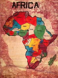 Studying African history this year, and sooner or later I will have to pay this fab continent a visit. Africa Map, Out Of Africa, Africa Travel, South Africa, African Safari, African Art, African Drawings, African History, Congo