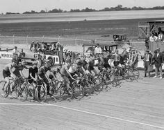 Bicycle Racers Ready At Start Line! 1925 Vintage 8x10 Reprint Of Old Photo