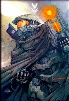 Master chief with a boltshot You have to love the boltshot One shot kill Halo 5, Halo Game, Master Chief And Cortana, Halo Spartan, Desu Desu, Halo Series, Otaku, Poster Print, Halo Reach