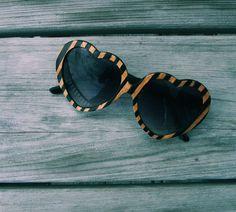 Lolita Womens Heart Sunglasses // The Original Handcrafted Wood Veneer Etsy.I love love love these glasses. Ray Ban Sunglasses Sale, Heart Sunglasses, Round Sunglasses, Sunglasses 2016, Wooden Sunglasses, Sunglasses Outlet, Sunglasses Online, Cheap Ray Bans, Four Eyes