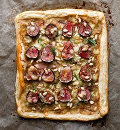 Fig Tart With Caramelized Onions, Rosemary and Stilton Recipe - NYT Cooking Fig Recipes, Vegetarian Recipes, Cooking Recipes, Entree Recipes, Tart Recipes, Empanadas, Fig Tart, Mini Pizza, Savory Tart