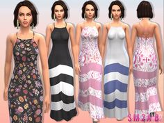 sims2fanbg's 10 - Female maxi dress