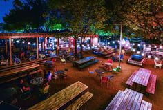 """Food Truck Park, Dallas, Texas. Jason Boso ( who with Quincy Hart, Steve Thomspon founded Twister Root Burger Co) has a great new true destination concept with his """"Truck Yard."""". Across from Trader Joe's, a deserted lot now is more like a  back yard with great food and drinks--  and tons of creativity-sounds like. A treetop bar, airstream bar, his own cheese steaks plus rotating food trucks with plenty of outdoor seating. Outrageously fresh thinking. PopUpRepublic.com"""