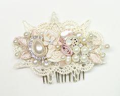 Blush Hair Accessories Ivory Hair Clip Floral by BrassBoheme, $62.00