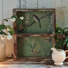 nice wall box made from an old box.