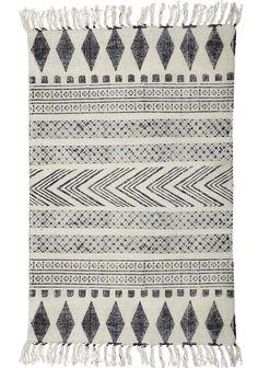 Dywan w kolorze białym cm Block House Doctor Block House, Black And Grey Rugs, Black White, White Rugs, Turbulence Deco, Tapis Design, Textiles, Geometric Rug, Tribal Rug