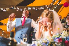 Nicky and Toby's beautiful bright and eclectic styled tipi wedding in the gorgeous grounds of Toby's parents' home in Great Dunmow, Essex. Thanks so much to lovely photographer jacksonandcophotography.com for sharing these images - one of the most fun, natural looking weddings we've seen!