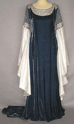 One of Arwen's beautiful dresses from the LOTR's movies! Just breathtaking!