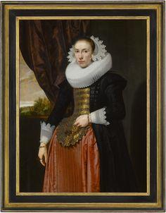 Pieter Claesz Soutman - Portrait of the Wife of Alexander van der Capellen 17th Century Fashion, Milwaukee Art Museum, Famous Portraits, Dutch Golden Age, Pretty Dresses, Dresses Dresses, Fine Art, Lady, Wikimedia Commons