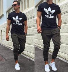 jogger básica look masculino