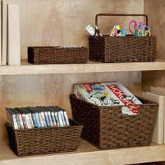 Is getting more organized in your home or office on your New Year's Resolutions list?  We offer storage and organization solutions for just about any space.  The four baskets featured here were $107 but are now on sale for $100.  Or you could get them free by hosting a Signature Home Styles party!  www.signaturehomestyles.biz/tjford