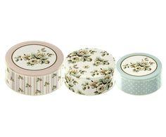 Conjunto de caixas flower katie ali & co - 25cm   Westwing - Casa & Decoração