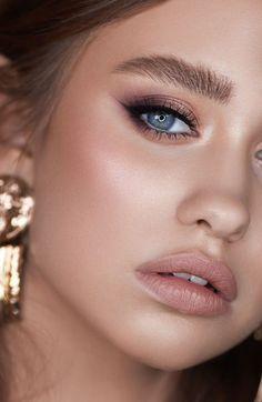 Eye Makeup Designs, Eye Makeup Art, Beauty Makeup, Arabic Makeup, Indian Makeup, Natural Makeup For Brown Eyes, Makeup Looks For Brown Eyes, Natural Skin, Wedding Hair And Makeup