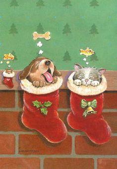 Gary Patterson Cats christmas | Gary Patterson, artist