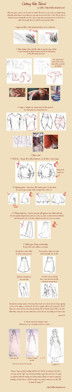 Clothing Folds Tutorial , How to Draw Fabric Folds Tutorial by solfieri ,Resources for Art Students / Art School Portfolio @ CAPI ::: Create Art Portfolio Ideas at milliande.com , How to Draw Clothing Human Figure, Clothes, Folds, Fabric, Crease
