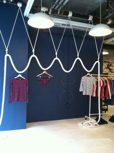 A genius way to display clothes!