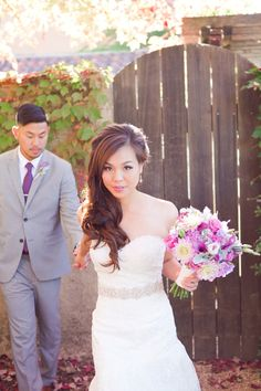 A+Romantic+Radiant+Orchid+Wedding