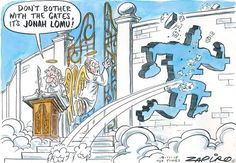 Zapiro: Watch out Heaven, it's Jonah Lomu - Mail & Guardian Sunday Times Newspaper, Jonah Lomu, Super Rugby, Life Lessons, Heaven, Entertaining, Instagram Posts, Cartoons, Rocks