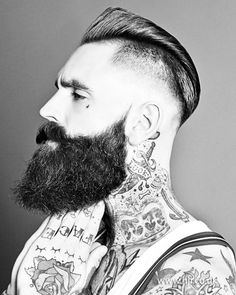 2014-mens-smooth-with-shaved-sides #beard #haircutmen