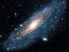 The Andromeda Galaxy is located 2.5 million light years from earth. It is moving towards us at about 140 kilometres per second and it will collide with the Milky way galaxy in five billion years.  The Andromeda Galaxy contains around one trillion stars, which is at least twice the number of stars in the Milky Way galaxy. Credit: NASA