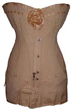 Antique corsets - Au Royal diagonal seam corset