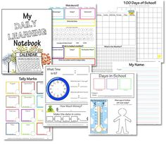 Free Printable Elementary Daily Learning Notebook (includes link to a preschool version) from Confessions of a Homeschooler