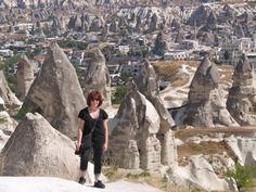 Turkey has some pretty incredible things to see - this is looking over Cappadoccia