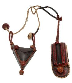 Africa | Leather amulet from West Africa, most probably Senegal | 20th century