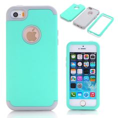 Colorful 3-in-1 Impact Hard & Soft Silicone Hybrid Case for Apple iPhone 5/5S/5C/SE Armor Phone Cases